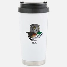 Custom Owl Graduate Stainless Steel Travel Mug