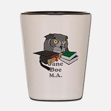 Custom Owl Graduate Shot Glass