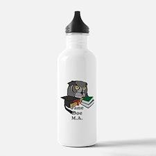 Custom Owl Graduate Water Bottle