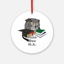 Custom Owl Graduate Ornament (Round)
