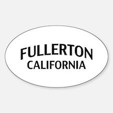 Fullerton California Sticker (Oval)
