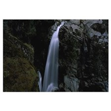 High angle view of a waterfall, Nooksack Falls, No