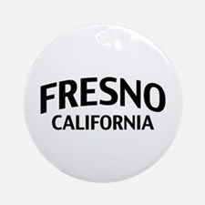 Fresno California Ornament (Round)