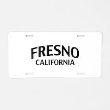 Fresno California Aluminum License Plate