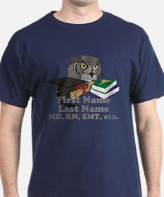 Custom Owl Medical Graduate T-Shirt