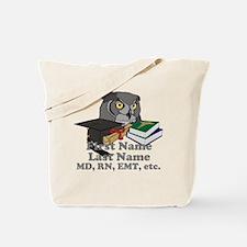 Custom Owl Medical Graduate Tote Bag