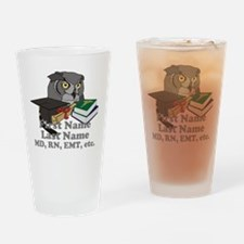 Custom Owl Medical Graduate Drinking Glass