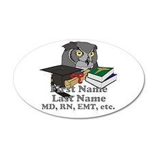 Custom Owl Medical Graduate Wall Decal