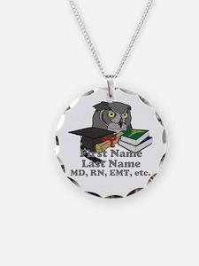 Custom Owl Medical Graduate Necklace