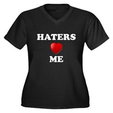 Haters Love Me Women's Plus Size V-Neck Dark T-Shi