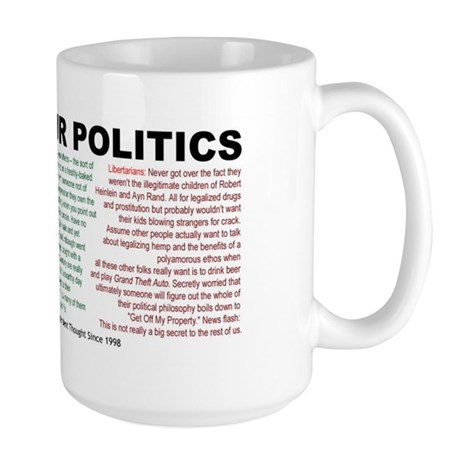 I Hate Your Politics Mega Mug