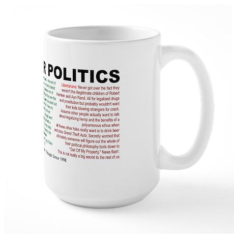 I Hate Your Politics Mega Mug