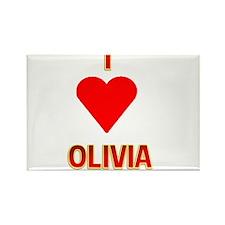 I Heart Olivia 2 Rectangle Magnet