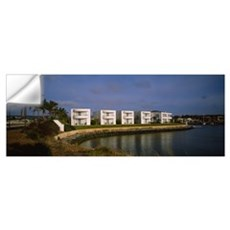 Reflection of buildings in water, Port Lincoln, Ey Wall Decal