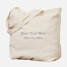 Elegant Gray Custom Text. Tote Bag