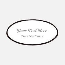 Elegant Gray Custom Text. Patches