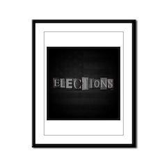 Elections Framed Panel Print