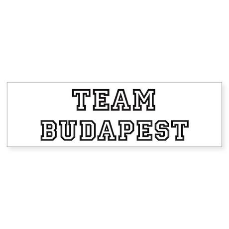 Team Budapest Bumper Sticker