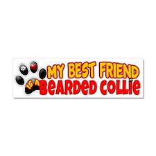 Bearded Collie Car Magnet 10 x 3