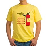 Fire safety Mens Yellow T-shirts