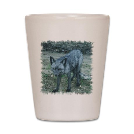 Silver Fox Shot Glass
