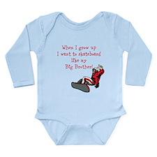When I grow up Long Sleeve Infant Bodysuit