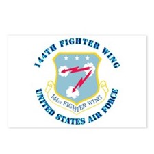 144th Fighter Wing with Text Postcards (Package of