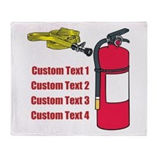 Fire Fighting Equipment Image Throw Blanket