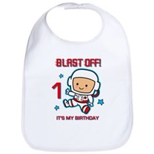 Blast Off 1st Birthday Bib