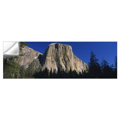 Low angle view of a mountain, El Capitan, Californ Wall Decal
