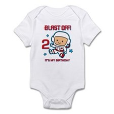 Blast Off 2nd Birthday Infant Bodysuit