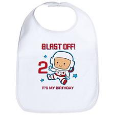 Blast Off 2nd Birthday Bib