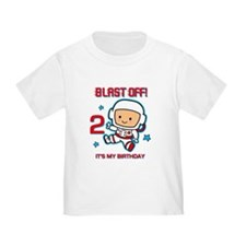 Blast Off 2nd Birthday T