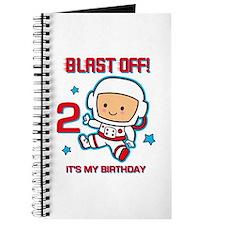 Blast Off 2nd Birthday Journal