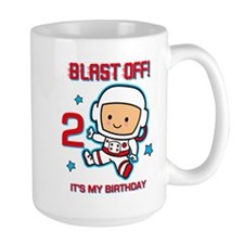 Blast Off 2nd Birthday Mug