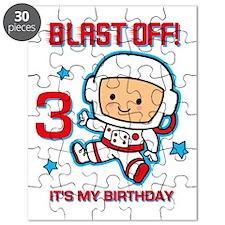 Blast Off 3rd Birthday Puzzle