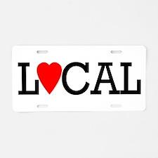 """""""Local"""" Aluminum License Plate"""