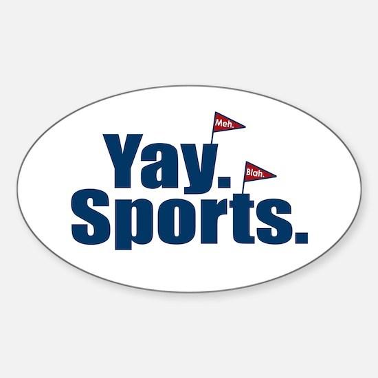 Yay Sports Meh Sticker (Oval)