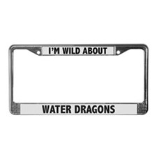 Wild About Water Dragons License Plate Frame