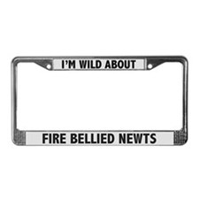 Wild About Fire Bellied Newts License Plate Frame