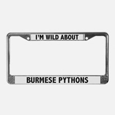 Wild About Burmese Pythons License Plate Frame