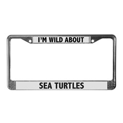 Wild About Sea Turtles License Plate Frame