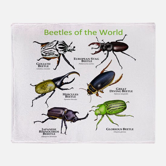 Beetles of the World Throw Blanket