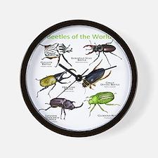 Beetles of the World Wall Clock