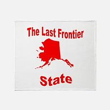 Alaska: The Last Frontier Sta Throw Blanket