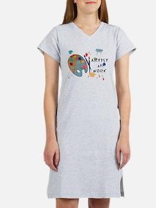 Artist At Work Women's Nightshirt