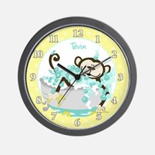 Monkey in Tub Wall Clock - Tevin