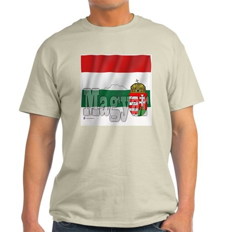 Silky Flag Magyar (Hungary) Ash Grey T-Shirt
