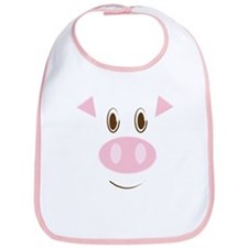 Cute Little Piggy's Face Bib