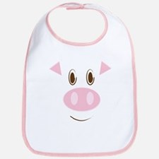 Cute Little Piggy's Face Bib